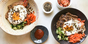 Bibimbap with Flank Steak and Veggies