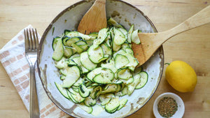 Raw Zucchini Salad with Poivre a la Mode
