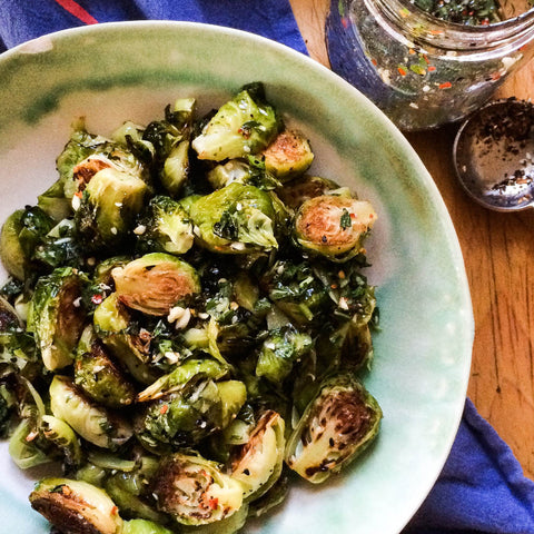 Roasted Brussels Sprouts with Shichimi Togarashi