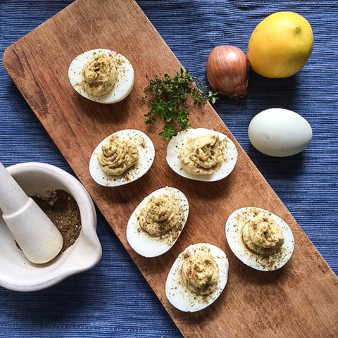 Deviled Eggs with Zahtar
