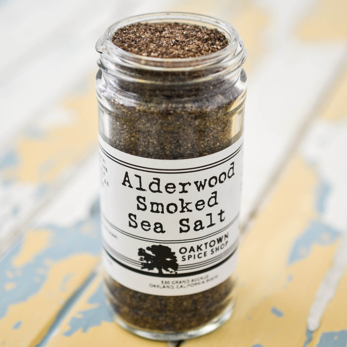 Alderwood Smoked Salt 1/2 cup jar