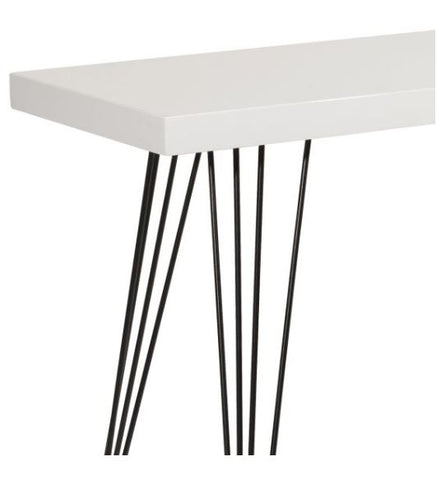 FUS0211 Console Table Gloss White Top