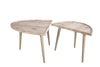 001BAE001 Baeza Two Part Coffee Table Light Oak Wood Effect