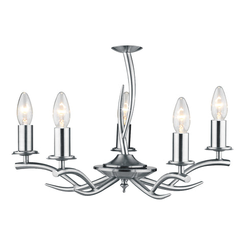 FLDA167-5 Tess 5 Light Pendant Satin Chrome