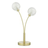 Dar Lighting AVA4241 Avari 2 Light Table Light Satin Brass Glass