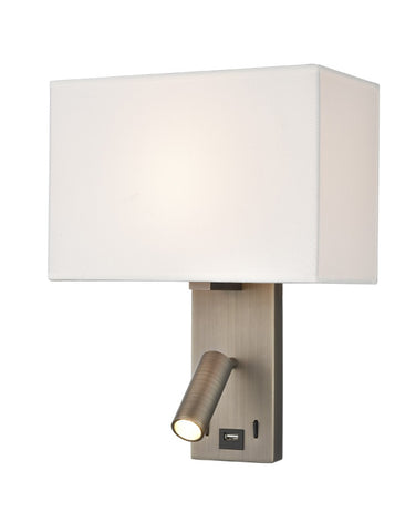 FLF0133-1  Wall Bracket With USB/LED Bronze
