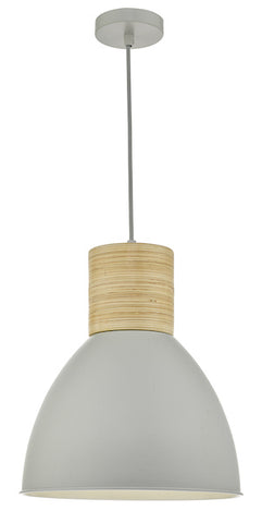 Dar Lighting ADN0139 Adna Pendant Grey & Wood