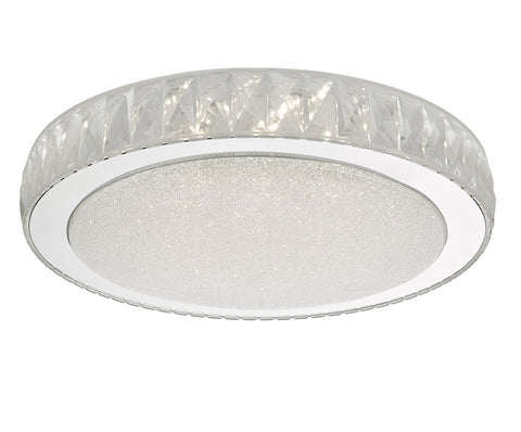 Dar Lighting AKE5008 Akelia Flush Acrylic & Stainless Steel Large LED