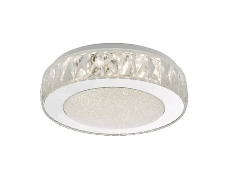 Dar Lighting AKE5208 Akelia Flush Acrylic & Stainless Steel Small LED