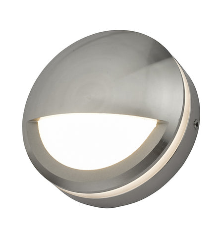 Dar Lighting AKO3268 Akos Wall Light Aluminium Eyelid IP65 LED