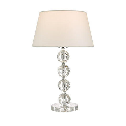 Dar Lighting ALE4208 Aletta Table Lamp Clear With Shade