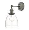 Dar Lighting ARV0761 Arvin Wall Light Antique Chrome & Glass