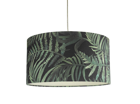 Dar Lighting BAM6555 Bamboo Easy Fit Shade Green Leaf Print Small