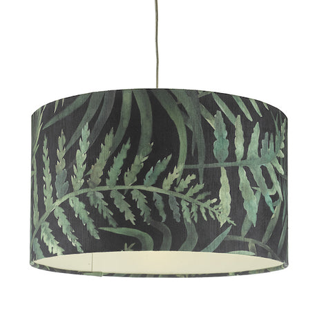 Dar Lighting BAM8655 Bamboo Easy Fit Shade Green Leaf Print Large
