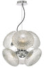Dar Lighting BIB0650 Bibiana 6 Light Pendant Polished Chrome And Clear Glass