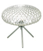 Dar Lighting BIB4308 Bibiana Table Lamp Polished Chrome with Clear Glass Large