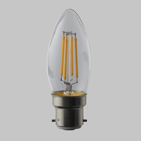 FUS0003 B22 Candle Filament Omni Lamp  4.5W (31W) 2700K 470lm Dimmable