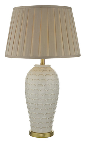 Dar Lighting DAY4233 Dayna Table Lamp Cream Base Only