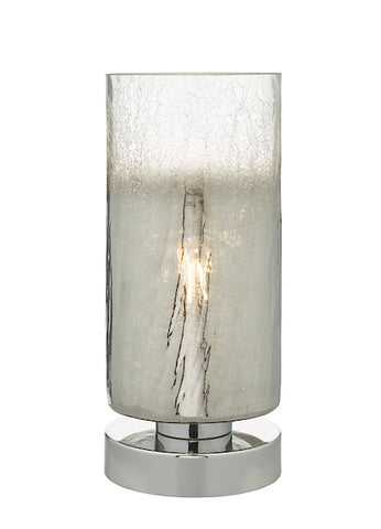 Dar Lighting DEE4208 Deena Table Lamp Crackle Glass and Polished Chrome Touch