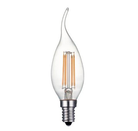 FUS0011 E14 Flare Tip Candle Filament Lamp  4W (35W) 2700K 400lm  Dimmable
