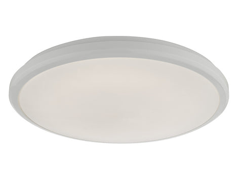 Dar Lighting EMM522 Emmett Flush White Acrylic Medium IP44 LED