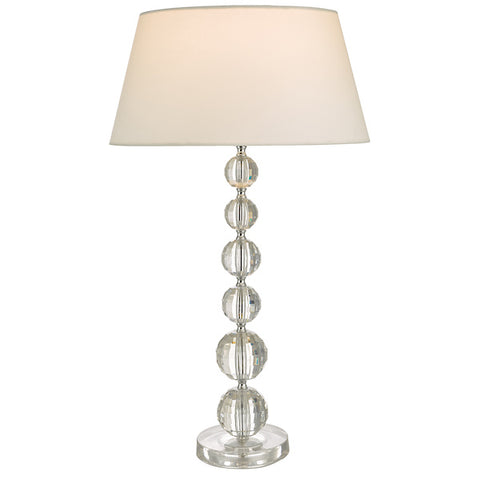 Dar Lighting EPO4208 Epona Table Lamp Clear With Shade