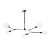 Dar Lighting EUP0539 Euphemia 5 Light Pendant Black