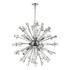 Dar EXO0850 Exodus 8 Light Pendant Polished Chrome.