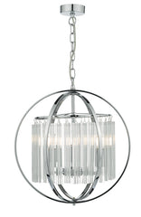 FLDA002 3 Light Pendant Polished Chrome