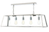 FLDA003-SS5 Aron 5 Light Pendant Stainless Steel