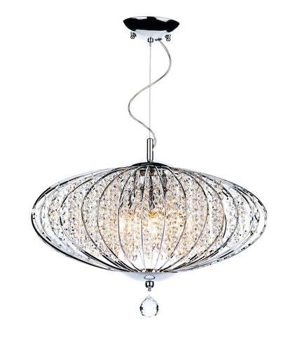 FLDA010 5 Light Pendant Polished Chrome