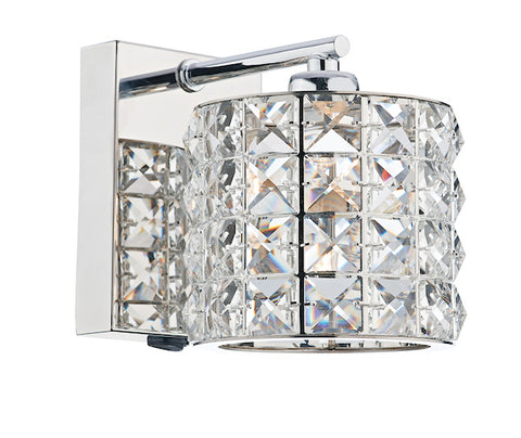 FLDA011-WLC Adam 1 Light Wall Bracket Polished Chrome