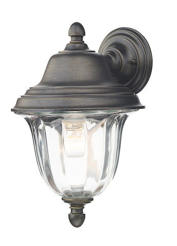 FLDA016 Wall Light Outdoor Black Gold IP44