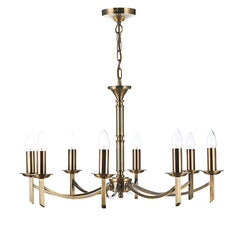FLDA021-8AB Albert 8 Light Dual Mount Pendant Antique Brass