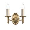 FLDA021-WLAB Albert Double Wall Bracket Antique Brass