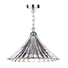 FLDA029-1CL Albie 1 Light Large Pendant Clear Glass/Polished Chrome Finish