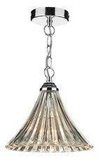 FLDA029-1C Albie 1 Light Fluted Glass Pendant Polished Chrome