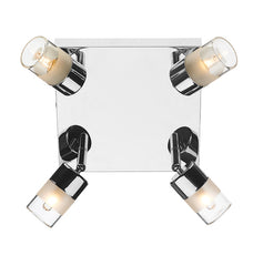FLDA034-4 Ant 4 Light Plate Polished Chrome IP44