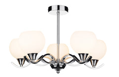 FLDA036-5 Alex 5 Light Semi Flush Polished Chrome