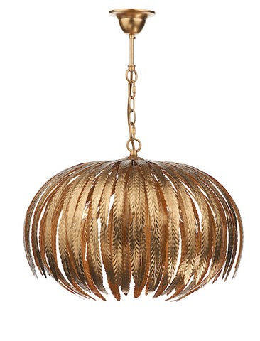 FLDA043 5 Light Pendant Gold