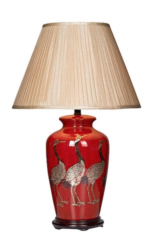 FLDA049 Bird Table Lamp Red Base Only