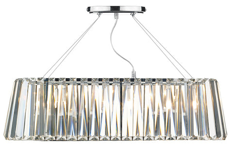 FLDA062 3 Light G9 Oval Linear Pendant Bar