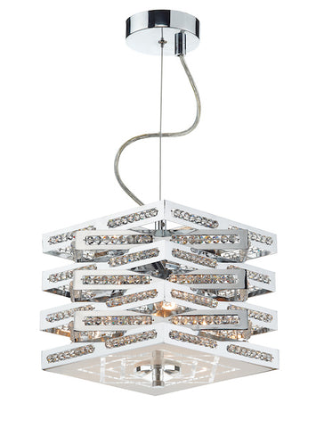 FLDA092-3 Caleb 3 Light Pendant Polished Chrome