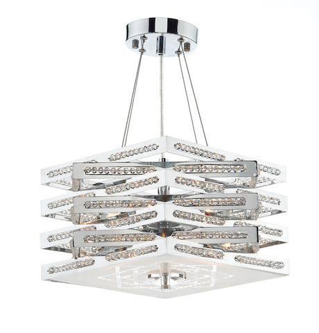 FLDA092-5 Caleb 5 Light Pendant Polished Chrome