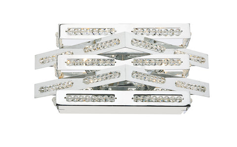 FLDA093-2WL Caleb 2 Light Wall Bracket Polished Chrome