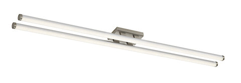FLDA095 Twin LED Ceiling Flush 117CM Brushed Chrome