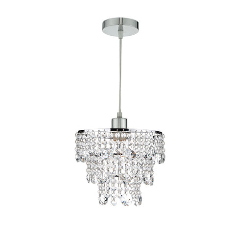 FLDA096 Crystal Non Elec Polished Chrome