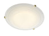 FLDA097-30 Callum 30CM Diam Flush(Glass White)