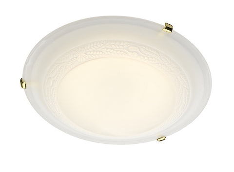 FLDA097-50 Callum 50CM Flush Brass & Glass