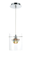 FLDA103-1WL Colin 1 Light Pendant Polished Chrome/Clear